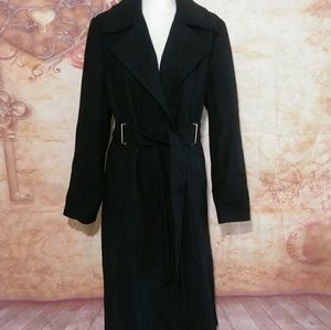 Womens Long Wool Trench Coat Worthington plus 1X